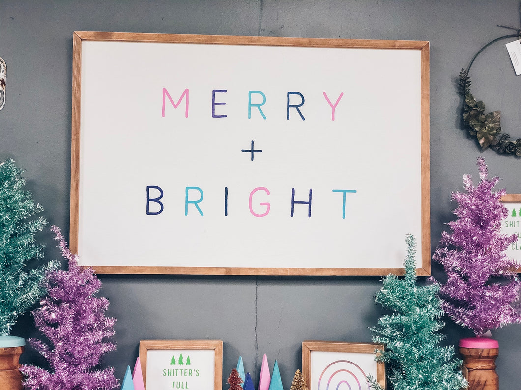 Merry + Bright colorful