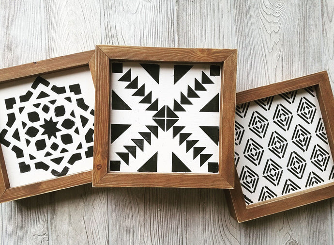 TILE PATTERNS - SET OF 3