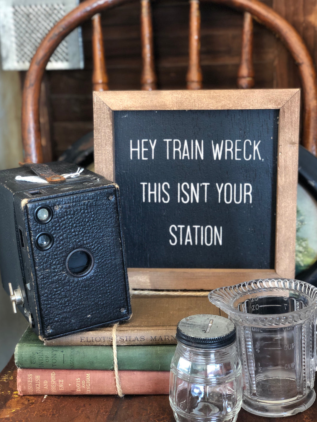 HEY TRAIN WRECK, THIS ISN'T YOUR STATION