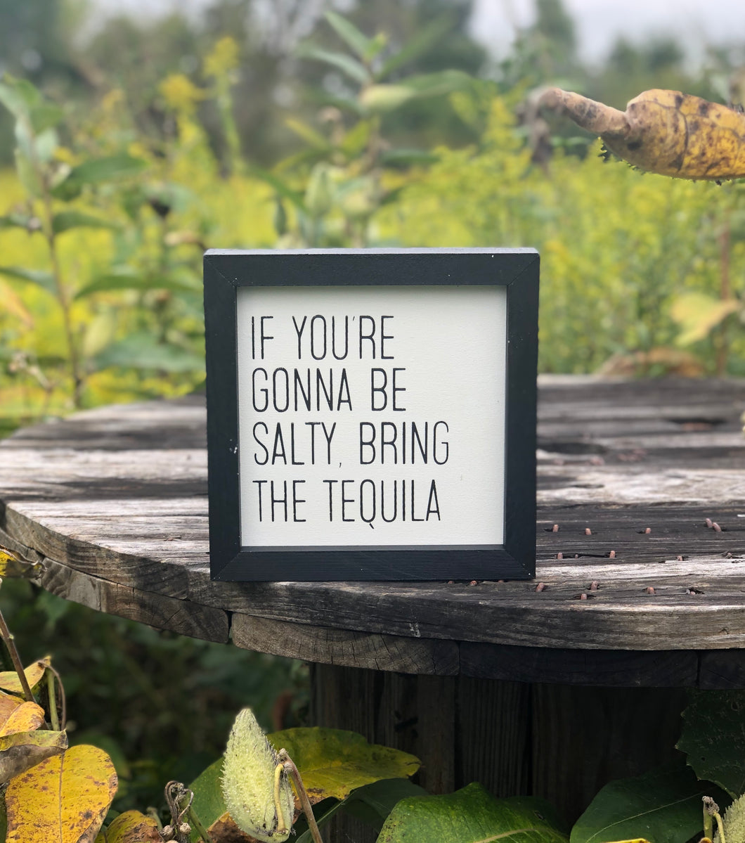 IF YOU'RE GOING TO BE SALTY, BRING TEQUILA