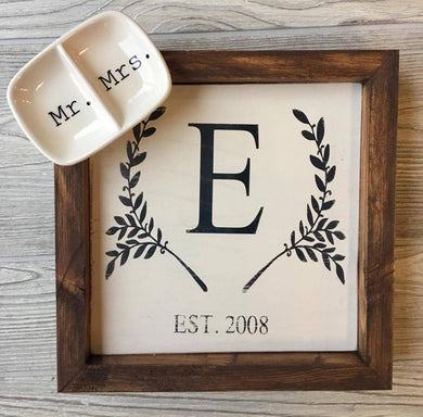Monogram and ring tray combo