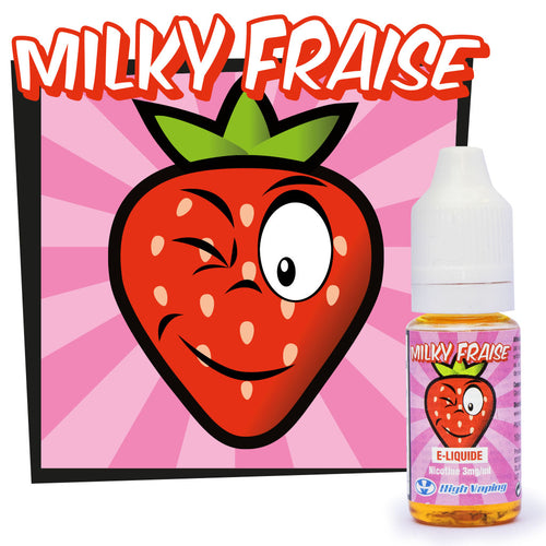 Milky Fraise 10 ml - High Vaping