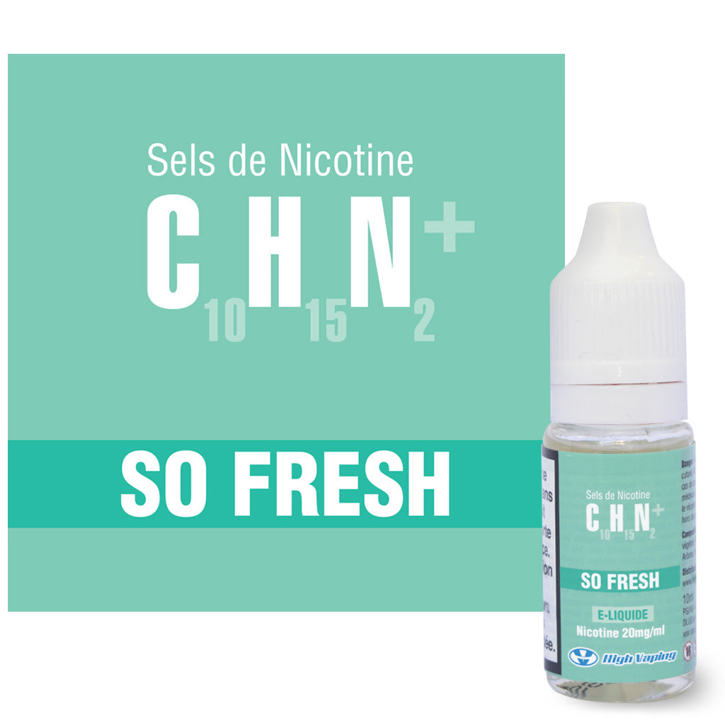 So Fresh Sels de Nicotine High Vaping