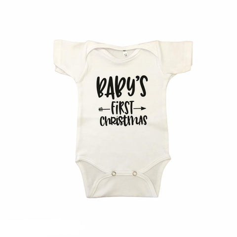 Onesie printed - Baby's First Christmas