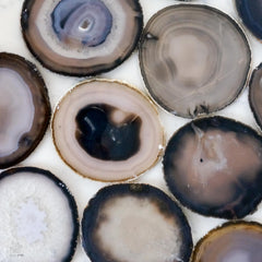 Gray agate slices - Medium