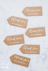 Kraft Tags with Modern Calligraphy