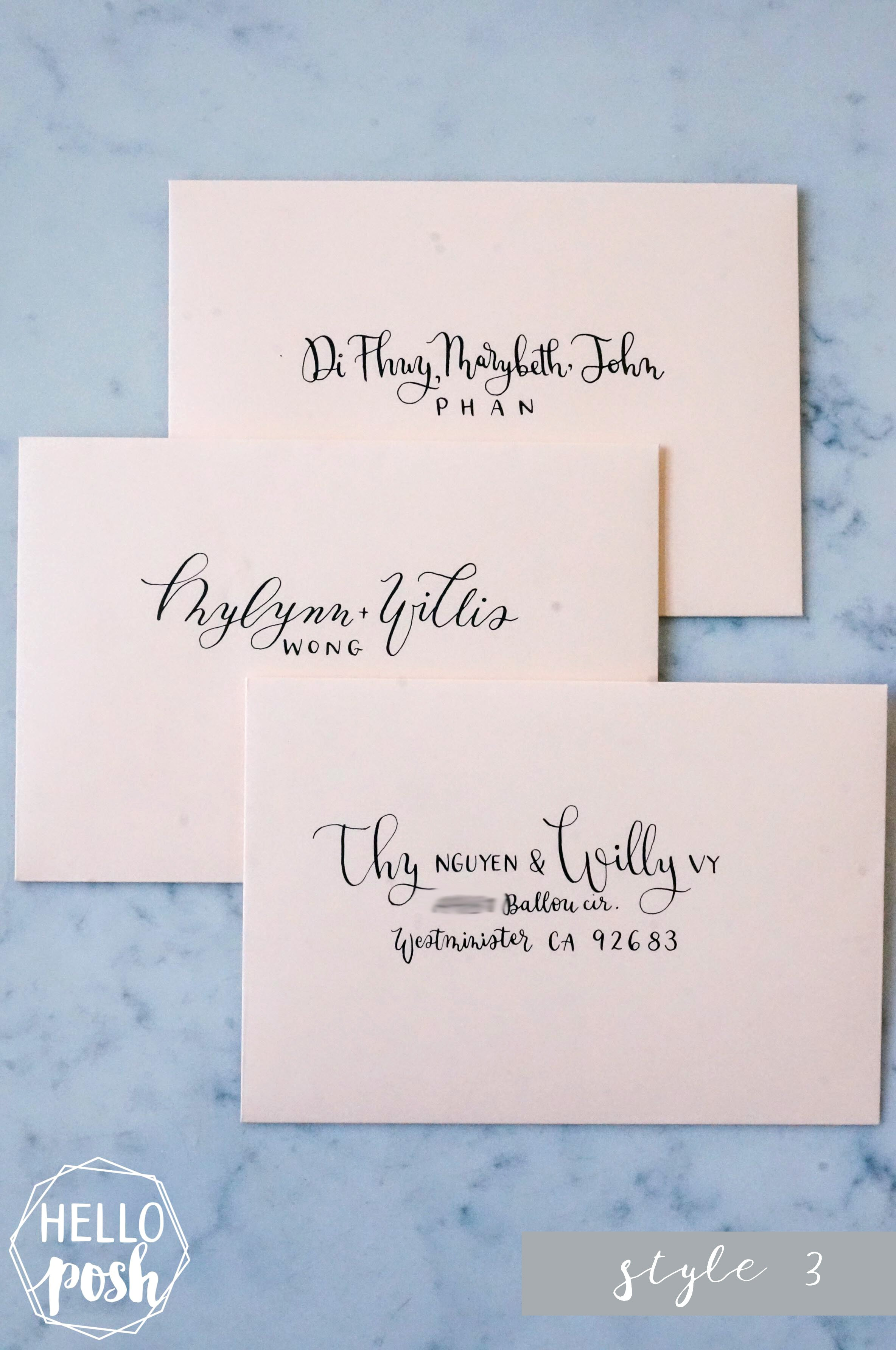 Wedding Envelope Modern Calligraphy