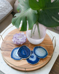Blue Agate Coaster Set