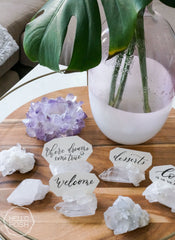 Crystal Quartz place card holders
