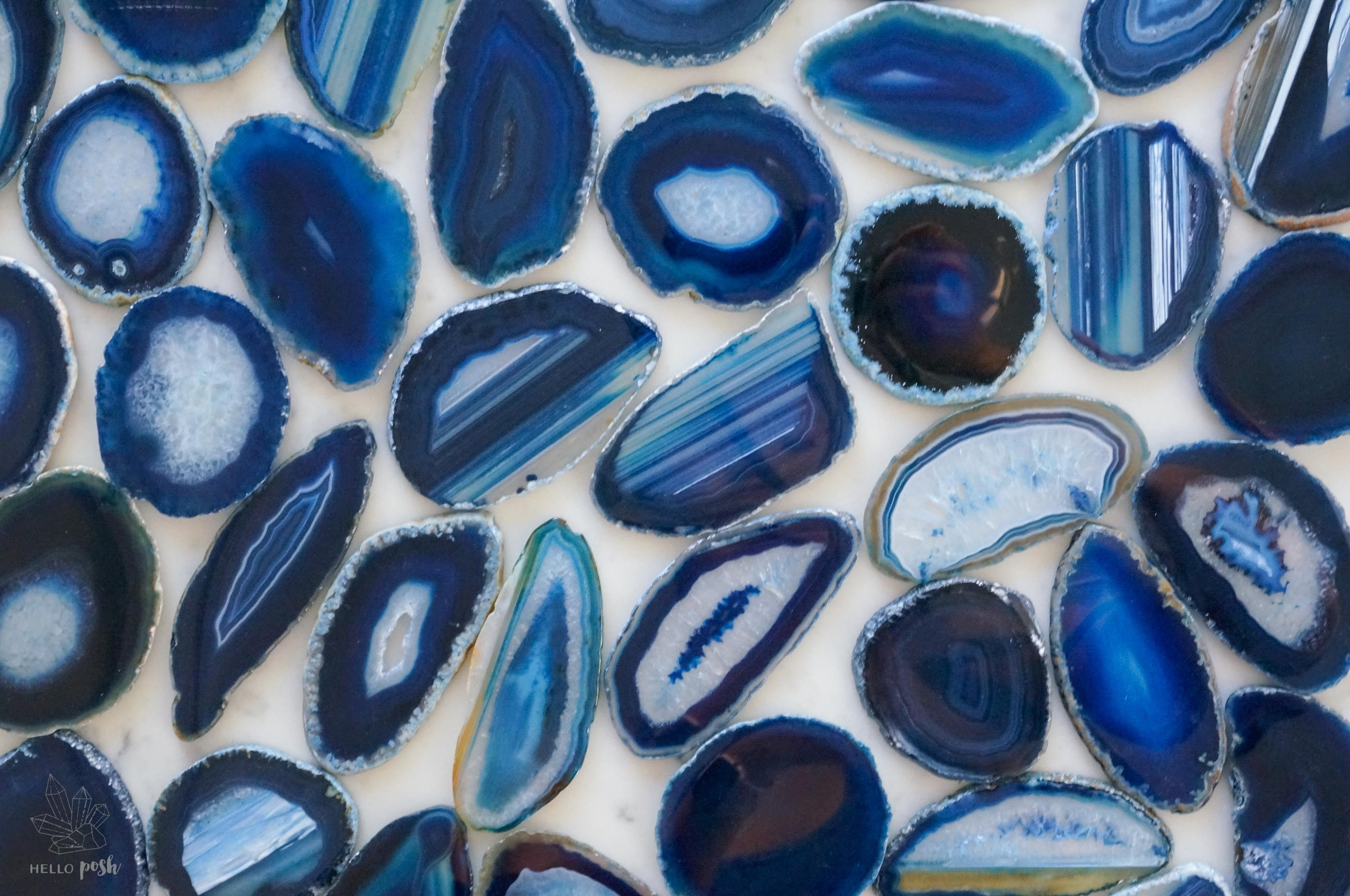Blue agate slices - Small