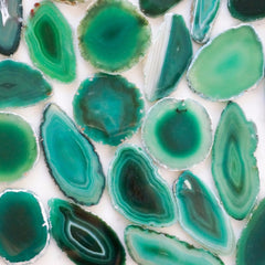 Green agate slices - Small