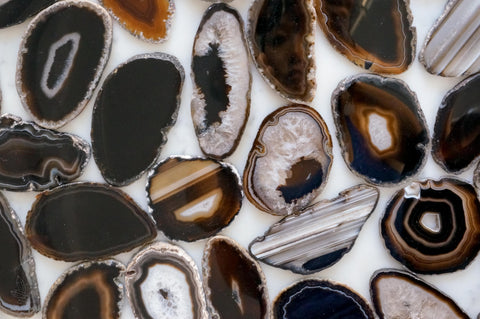 Black agate slices - Small
