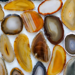 Natural agate slices - Small