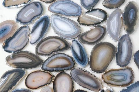 Gray agate slices - Small