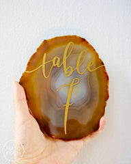 "6"" Agate Slice Table Numbers"