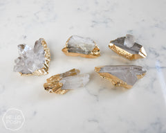 Crystal Quartz Gold plated card holders