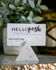 Marble triangle card holder