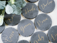 "4"" Slate place cards"