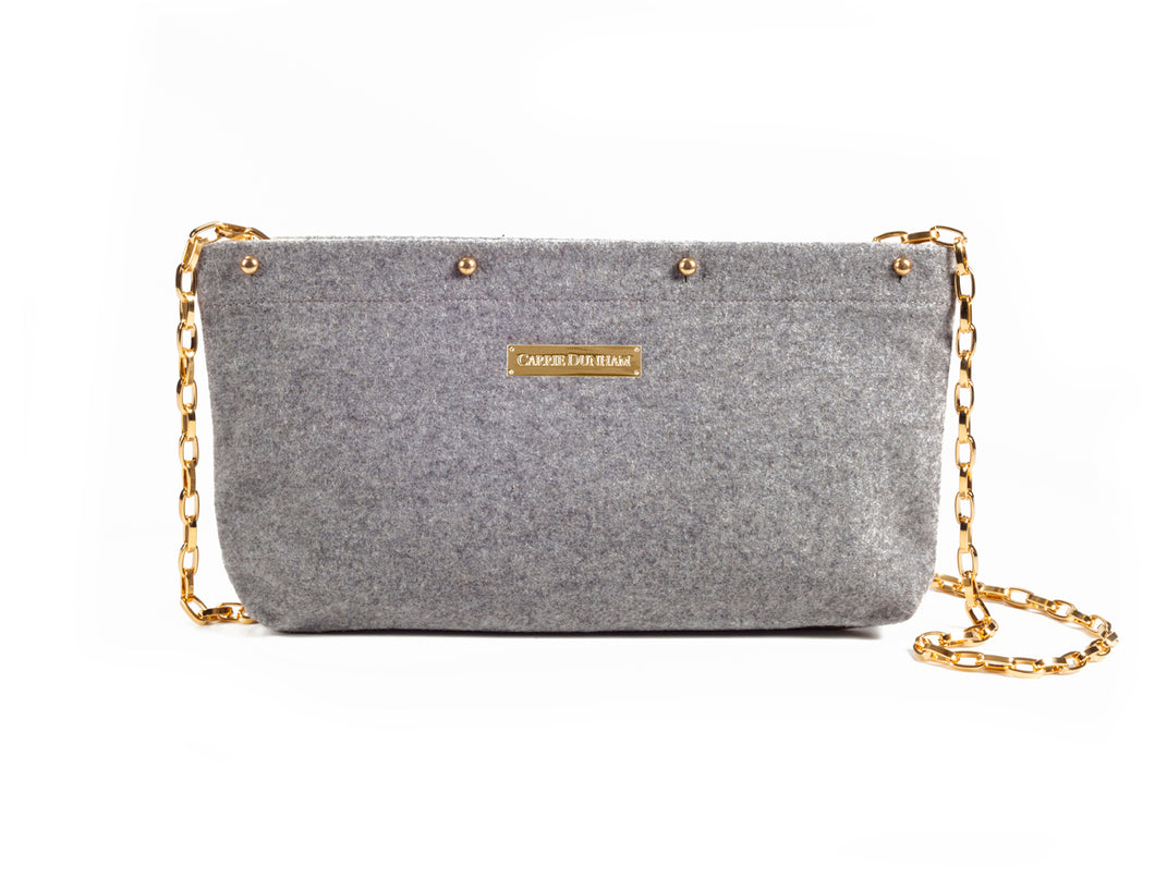 Charcoal Wool Clutch Cover