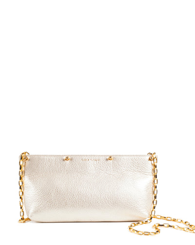 Gold Carrie Clutch with gold chain