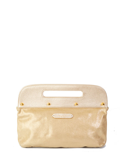 Gold Dunham clutch bag