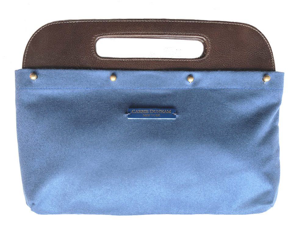 Ash Blue Wool Clutch Cover