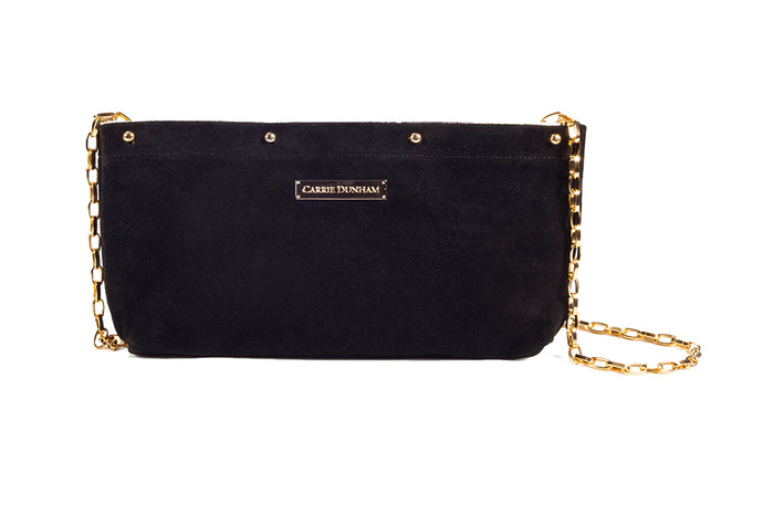 Black Suede Clutch Cover