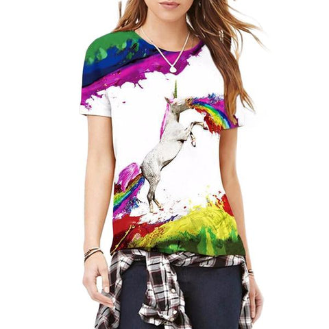 Unicorn Rainbow Tee-Shirt