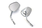 Stock Harley Style Short Stem Mirror Set