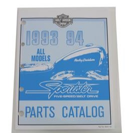 NOS Vintage 1993-94 Sportster Official Factory Manual & Spare Parts Catalog