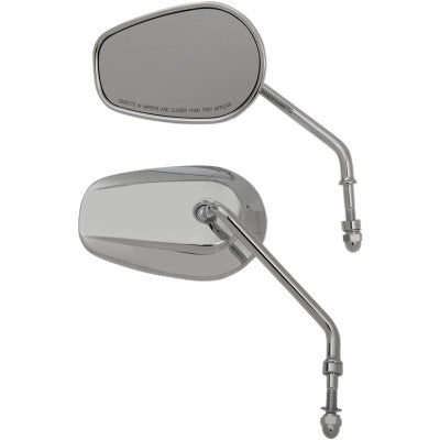 Stock Harley Style Long Stem Mirror Set