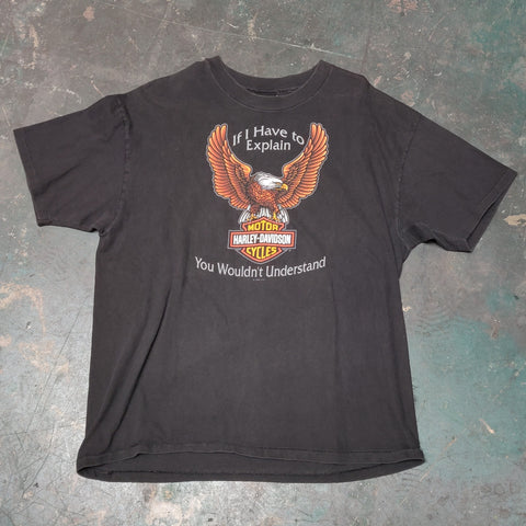 Vintage Harley Davidson Licensed Eagle with Bar & Shield Tee