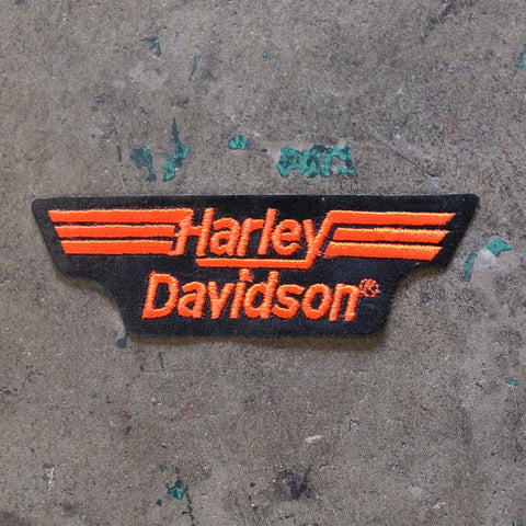Vintage Licensed Leather Harley Davidson Embroidered Patch