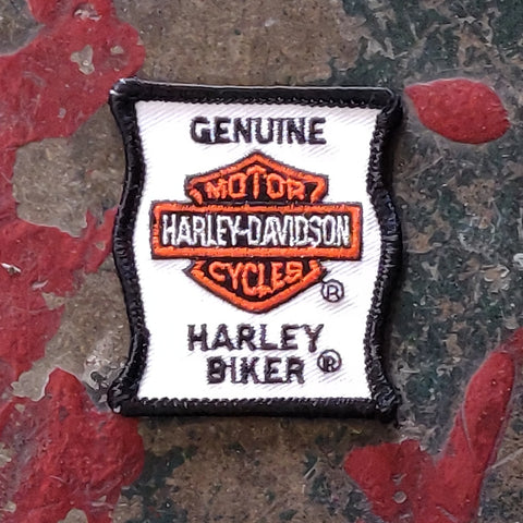 Vintage Licensed Twill Harley Davidson Embroidered Genuine Harley Biker Patch