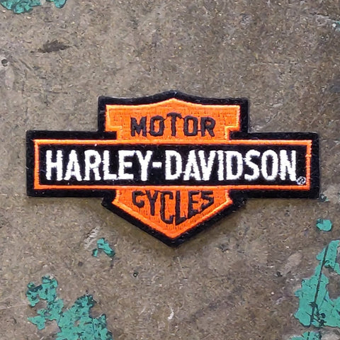 Vintage Licensed Velvet Harley Davidson Embroidered Bar & Shield Patch