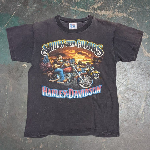 Vintage Show Your Colors Licensed Harley Davidson Tee