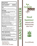 Hand Sanitizer with Moisturizing Aloe Vera - Includes Pump - Noble Roots