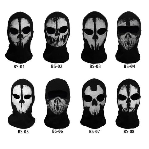 Ghost Skull Balaclava Cotton Outdoor Sports Skiing