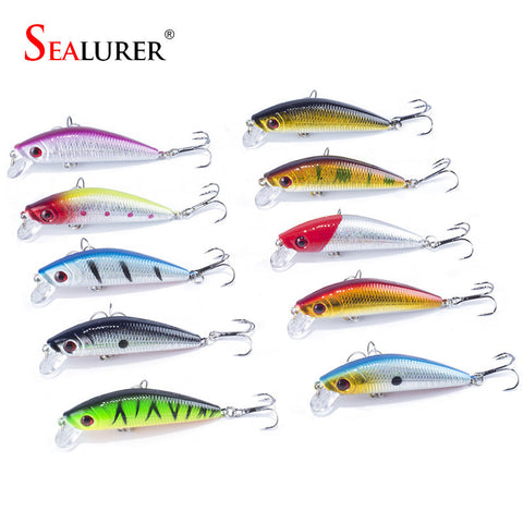 Free shipping sales promotion 7cm 8.5g sinking fishing lures 10pcs/lot hard plastic fishing bait with quality Hooks