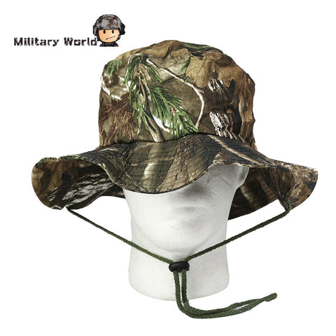 Tactical Camouflage Sport Bucket Hat For Men Women Headdress Hunting Summer Style Outdoor Fishing Hiking Boonie Cap Headgear