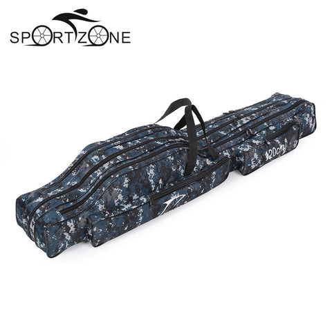 Fishing Tackle Bag 120/130/150cm Fishing Rod Bag Multifunctional Double/Three Layer Outdoor Canvas Portable Folding Fishing Bag