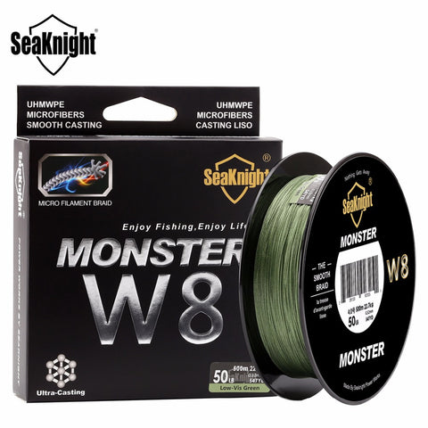 SeaKnight Braid Line 500M 8 Strands 0.16-0.50mm Super Strong 2017 New Braided Fishing Line For Sea Fishing Wide Angle Technology
