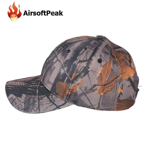 Tactical Camo Baseball Caps Camouflage Hip-hop Polo Hats Hiking Cycling Military Sunshade Snapback Gorras Outdoor Hunting Caps