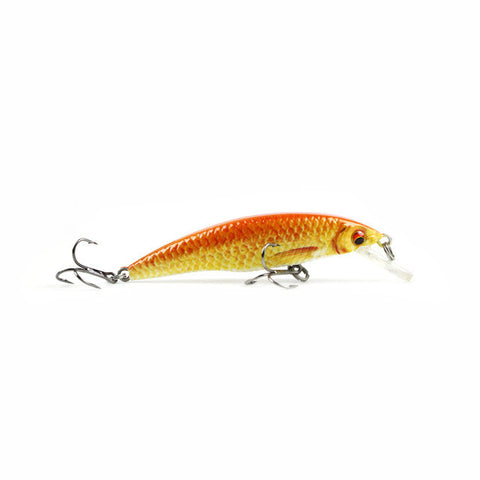 8cm/6.9g  New Minnow  Fishing Lure  Realistic Fish Bait Unique Body Texture Fishing Tackle  Wobbler Pesca 5 Color Options HML12B