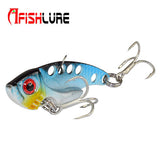 Afishlure 7g/12g/16g Metal VIB with Treble Hook Artificial Lure Spoon Fishing Lure artificial bait cicada lure bass vib bait