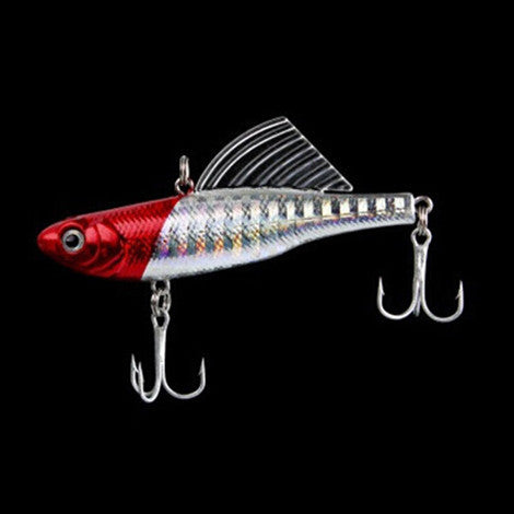 9 colors 14g 6.5cm 1pcs winter fishing lure hard bait VIB lead fishing ice sea fishing tackle diving swivel jig wobbler lure