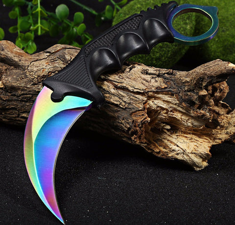 New Arrival Camping Tool Slaughter CS GO Fade Counter Strike Karambit Handmade Knives Hunting Fighting Tactical Survival Knife