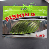 10pcs 6.5cm/1.1g Artifical Panfish Lure Swim bait  Perch bait fishing Tackle  soft floating  Sea fishing lure Free shipping
