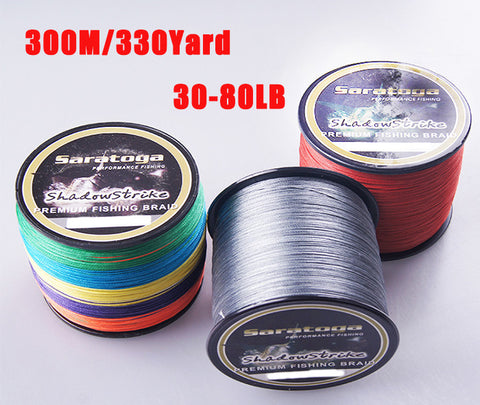 """Saratoga"" 8 Strands 100% PE Braided Fishing Line 300m"