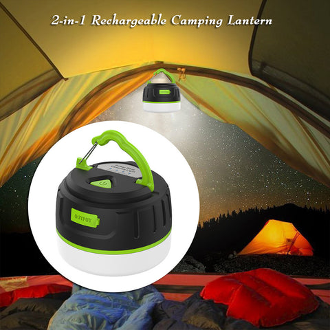 Super Bright Waterproof Magnetic Lamp 200LM LED Camping Tent Lamp Outdoors Lamp with  USB Charging Cable Rechargeable